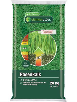 Gärtnerglück Rasenkalk 20kg Kohlensaurer Kalk