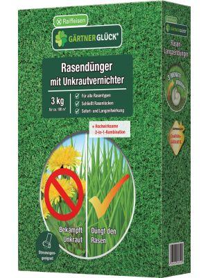 Raiffeisen Gärtnerglück Rasendünger Unkrautvernichter 3kg
