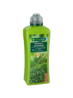 Buchsbaum- und Ilexdünger 1 Liter Gärtnerglück